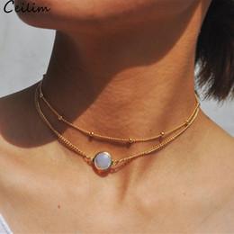 $enCountryForm.capitalKeyWord Australia - Women Bohemian Multi Layer Bead Chain Necklace Multilayer Opal Charm Pendant Necklace For Women Girls Design Jewelry