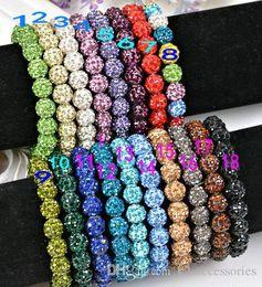$enCountryForm.capitalKeyWord Australia - Crystal balls beads Bracelets rhinestone Ball shiny Stretch Bracelets Jewelry Armband Cheap Fashion jewelry charm bracelets