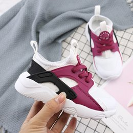 Cute Shoes For Boys Australia - Cute Kids Air Huarache Sneakers Shoes For Boys Girl Authentic All White Children's Trainers Huaraches Sport Running Shoes Size 28-35