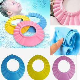 child shampoo shield NZ - Fashion Adjustable Shower Cap Protect Shampoo for Baby Health Bathing Child Kid Children Wash Hair Shield Hat RRA2251
