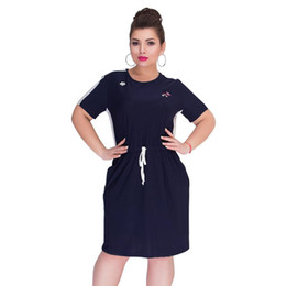 $enCountryForm.capitalKeyWord NZ - Summer Plus Size Clothing Short Sleeve Straight Casual Large Women 5xl 6xl Big Dress Vestidos Q190530