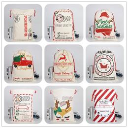 Sack coat online shopping - Christmas Gift Bags Styles Canvas Xmas Drawstring Bag Large Capacity Bag Santa Sack Backpack Reindeers Santa Claus Sacks Bags For Kids