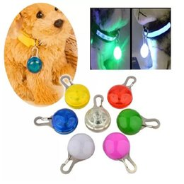 Wholesale LED Dogs Flashing Collars LED Glow Light Luminous Dog Collars Pet Night Safe Collar Pet Dog Cats Identity Accessories