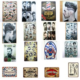 vintage metal poster Australia - Barber Shop Decor Shabby Chic Vintage Metal Signs Shave And Haircut Tin Poster Retro Metal Painting Wall Stickers 30X20 CM SH190918