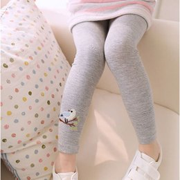 bird leggings Australia - Spring Fashion Baby Kids Girls Pattern Embroidery Pants Bird Stretchy Elastic Children Leggings Trousers for Girls