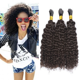 kinky hair for braiding Australia - Curly Human Hair Bulk No Weft Cheap Brazilian Kinky Curly Hair Bulk for Braiding No Attachment 3pcs