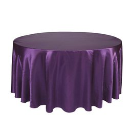 Blue Party Decorations UK - Round Table Cloth Topper Tablecloth Luxury Polyester Satin Table Cover Oilproof Wedding Party Restaurant Banquet Home Decoration T8190620