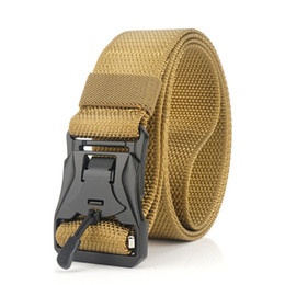 $enCountryForm.capitalKeyWord Australia - 1.5 in Newly Unisex Nylon Leisure Weaving Jeans Weaving Army Tactical Belt with Magnetic Buckles Outdoor Hunting Training Duty Belt
