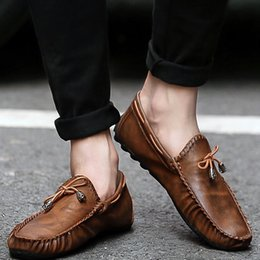 $enCountryForm.capitalKeyWord Australia - Men Flats Shoes Leather Loafers Driving Mocassin Slip On Shoes Male Summer Casual Footwear Camel Black Zapatos Hombre