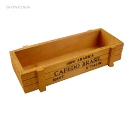 $enCountryForm.capitalKeyWord Australia - wholesale 1PC 22.5*8.5*4.5cm Hot Vintage Wooden Boxes Crates Flower Pot Kitchen Trinket Desktop Storage Case Practical Use