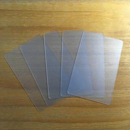 200 pcs Cartão em branco transparente PVC fino material plástico fosco cartão impermeável 85.5 * 54mm uso para impressão de cartão de visita em Promoção