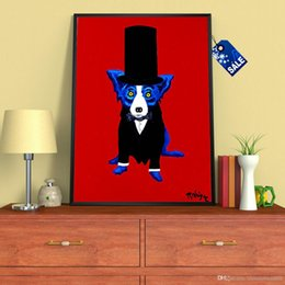 modern animal oil painting Australia - A. Blue Dog High Quality Handpainted Modern Abstract Animal Art Oil Painting On Canvas Wall Art Home Office Decor a40