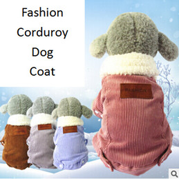 extra small wholesale clothes 2019 - Corduroy Thickened Pet Dog Cotton Clothes Autumn Winter Warm Puppy Teddy Fashion Coat Dog Cat Apparel cheap extra small
