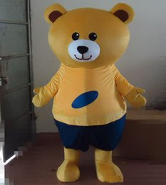 Wholesale bear costume sale for sale – halloween 2019 factory sale hot a brown bear mascot costume with orange shirt and black pant for sale