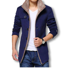 Wholesale mens wool jackets sale for sale – winter Winter Long Wool Coat Men Jackets And Coats Slim Fit Mens Windbreaker High Quality Trench Coat Plus Size Hot Sale Jacket