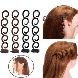 $enCountryForm.capitalKeyWord Australia - 4Pcs Set Hair Braider Roller Twist Styling Clips Wedding Party DIY Curling Tools hot sale