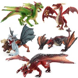 heart stereos Australia - Hot Selling Lower Jaw Mobile Dragon Variation Magic Dragon Static Model Ornaments Soft Silcone Stereo Simulated Dinosaur Models