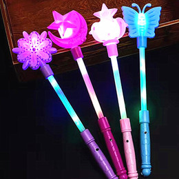 Flashing Fairy wands online shopping - Flash magic wand children s luminous toys colorful Crown Butterfly fairy wand