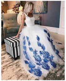 white boho dresses NZ - LORIE 2019 White Wedding Dress Ball Gowns Round Neck Chinese style Appliques Tulle Zipper Back Boho Wedding Gown Bride Dress