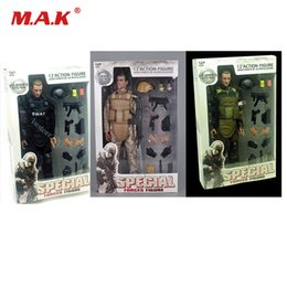 Military Modelling figures online shopping - 1 Scale Movable Style quot SWAT Black Uniform Military Army Combat Game Toys Soldier Set Action Figure Model Toys