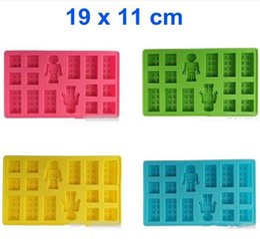 Lego brick tray online shopping - New Arrival Food Grade Lego Brick Blocks Ice Cube Trays Mold robot ice mould Ice tray