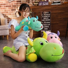 soft toy cow NZ - 1.1M Large Cow Doll Plush Bear Secretary Kim Stuffed Animal Plush Toy Soft Toys Pillow Doll Girl Gift Children Present on Sale 20170718