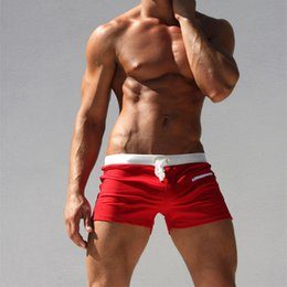 red white blue swimsuit men NZ - Swimsuit Summer Fashion Men Shorts Casual Fitness Shorts Breathable Quick-drying Beach Casual Fitness Swimsuits Angle