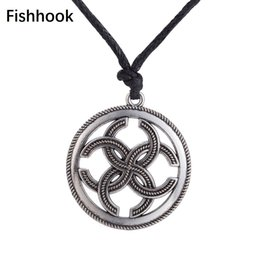$enCountryForm.capitalKeyWord NZ - Fishhook Amulet Slavic Necklace Seal Magical Wealth Prosperity Pendant Necklace Jewelry For Men and Women Adjustable Chain