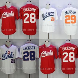 d1fcd3ca229 Bo Jackson  28 Chicks Movie Baseball Jersey Tigers  29 Bo Jackson Auburn Baseball  Jersey Stitched 1986 Retro Memphis Movie Jerseys S-3XL