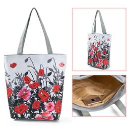 $enCountryForm.capitalKeyWord Australia - Floral Printed Tote Handbag Female Large Capacity Canvas Shoulder Bag Summer Beach Bag Fa$3 Women Bag