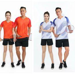 2020 Free Print New men woman Qucik dry Badminton sports clothes Women Men, badminton wear sets ,Sports Tennis suit, table tennis clothes on Sale