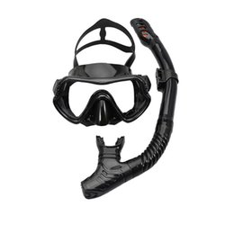 spearfishing gear Canada - Snorkeling Sambo Gear Underwater Spearfishing Scuba Diving Mask and Swimming Easy Breath Tube Set