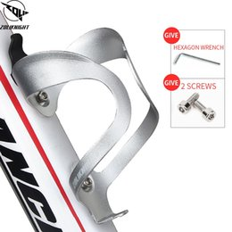 adjustable water cage NZ - Bicycle Aluminium Alloy Water Bottle Cage Adjustable Mountain Bike Cycling Bottle Holder Ultralight HandleBar Mount #25916