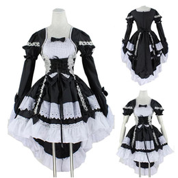 $enCountryForm.capitalKeyWord Australia - Women Black & Pink Angel Princess Maid Costume Lolita Cincher Tuxedo Tail Dress Bow-tie Anime Gothic Cosplay Outfit For Lady T3190614
