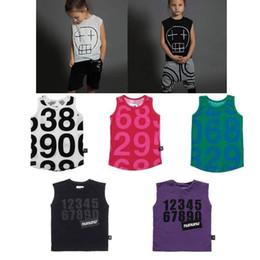 Children White Tees Australia - Kids T Shirts 2019 Nunu Summer Boys Girls Skull Number Print Tanks Sleeveless T Shirts Baby Child Cotton Tops Tees Clothes Y19051003