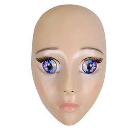 $enCountryForm.capitalKeyWord Australia - Top Grade!!! New Handmade Silicone Sexy And Sweet Half Female Face Ching Crossdress Mask Crossdresser Doll