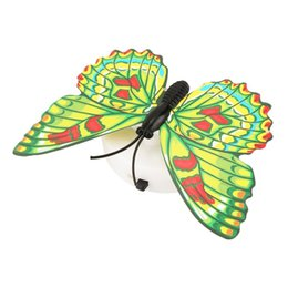 light suction cups UK - Colorful Changing Butterfly Led Night Light Lamp Home Room Wedding Party Desk Wall Decor With Suction Cup Children Gifts