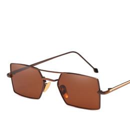 Pink Shades Australia - women metal sunglasses men retro small square mens sun glasses female yellow pink lens glasses frame shades eyeglass 2019