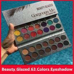 popular makeup palettes UK - 2019 High Quality Makeup Eyeshadow Gorgeous Me Tray 63 Colors Makeup Palette Glitter Eyeshadow Popular Brown and Earth Color Beauty Glazed