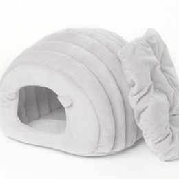 $enCountryForm.capitalKeyWord NZ - 2018 New Autumn Winter Warm Japanese Semi-closed Cat House Pure Color Exquisite Non-defrmation Pet Bed