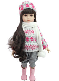 Real Girls Toys Australia - 18 In 45cm American Girl Doll With Clothe Shoe Suit Real Lifelike Soft American Girl Doll Toy For Girl Birthday Christmas Gift LE009