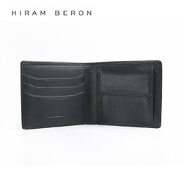 $enCountryForm.capitalKeyWord Australia - Hiram Beron Leather Wallet Men RFID Blocking Large Capacity Customized Holder Cow Leather Wallet Credit Card Genuine #302467