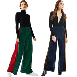$enCountryForm.capitalKeyWord UK - Season Suit-dress Long Pants Leisure Time Hit Color Split Joint Wide Leg Pants