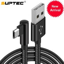$enCountryForm.capitalKeyWord Australia - Suptec 90 Degree Micro Usb Cable 2.4a Fast Charging Data Wire Cord Charger Cable For Android Samsung S6 S7 Edge Xiaomi Huawei Lg