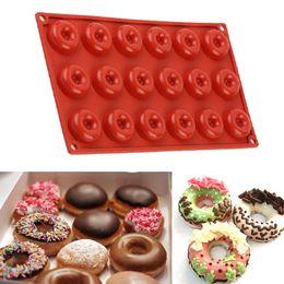 $enCountryForm.capitalKeyWord UK - 1PC 18 Cavity Savarin Chocolate Mold Round Pan Silicone Doughnut Molds Donut Cupcake Mould Bakeware Kitchen Cooking Tools