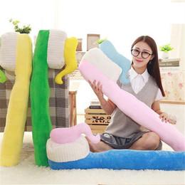 90 cm un pezzo spazzolino da denti creativo cuscino morbido pp cotone farcito cuscini per dormire peluche giocattolo divano decorazione ufficio cuscini 4 colori