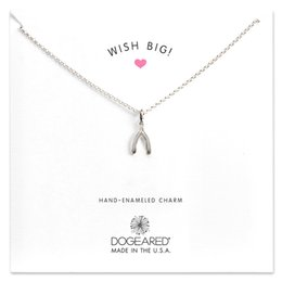 $enCountryForm.capitalKeyWord Australia - Dogeared Wish Big Necklace Gold Silver Wishbone Charm Necklace Women Pendant Necklaces With Gift Card Gold And Silver Color