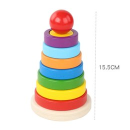 color matching toys Canada - Wooden Irregular Shape Matching Stacking Tower Color And Shape Cognitive Toy For Children Wooden Blocks For Kids Christmas Gift