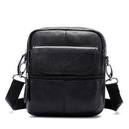 $enCountryForm.capitalKeyWord NZ - 2019 Business Messenger Bag Men Shoulder Bags Real Genuine Leather Small Crossbody Totes Mini Flap Designer Handbags Brown