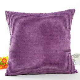 car sofa couch 2019 - Pillow Case Cover Soft Solid Velvet Toss Throw Pillows Handmade Cushion Cover for Couch Sofa Living Room Car cheap car s